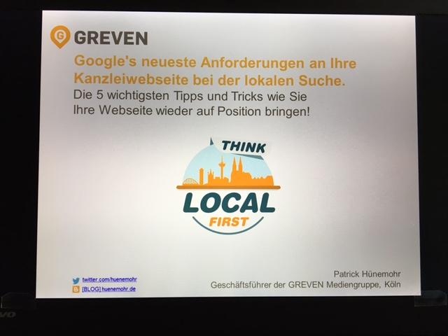 Patrick Hünemohr Google Anforderungen 2016